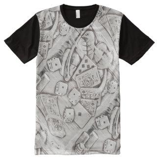 Enterrement de vie de jeune garçon de jeu de t-shirt tout imprimé