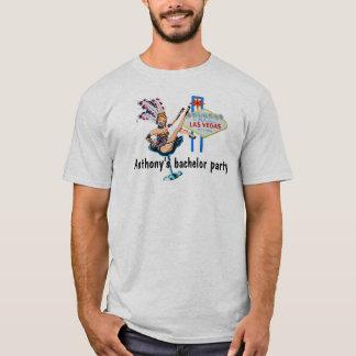 Enterrement de vie de jeune garçon de Las Vegas T-shirt