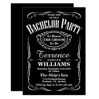 Enterrement de vie de jeune garçon noir et blanc à carton d'invitation  12,7 cm x 17,78 cm