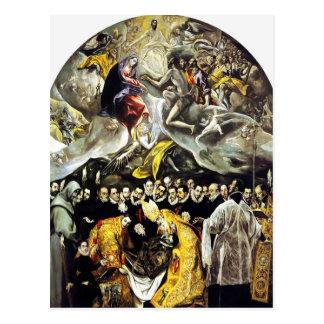 Enterrement d'El Greco du compte de la carte posta Carte Postale