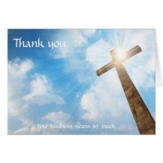Enterrement - Merci de croix de chrétien de Cartes De Vœux