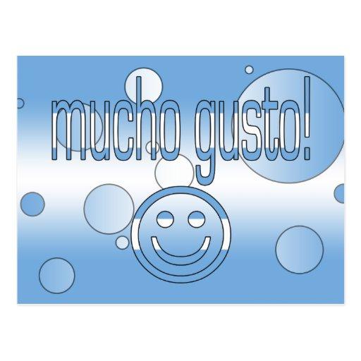 Enthousiasme de Mucho ! Le drapeau de l'Argentine  Cartes Postales