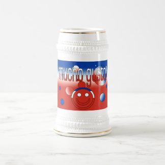 Enthousiasme de Mucho ! Le drapeau du Chili colore Chope À Bière