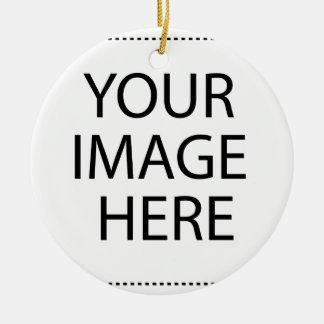 Entièrement personnalisable VOTRE IMAGE ICI Ornement Rond En Céramique