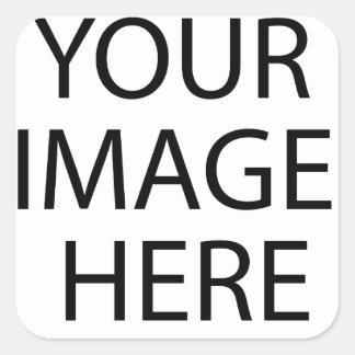 Entièrement personnalisable VOTRE IMAGE ICI Sticker Carré