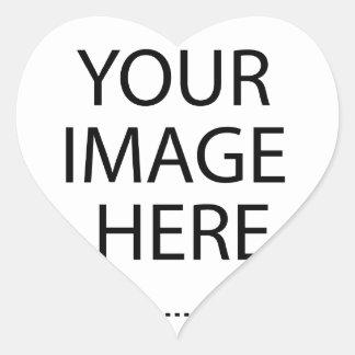 Entièrement personnalisable VOTRE IMAGE ICI Sticker Cœur