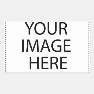 Entièrement personnalisable VOTRE IMAGE ICI Sticker Rectangulaire