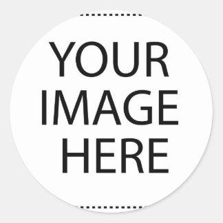 Entièrement personnalisable VOTRE IMAGE ICI Sticker Rond