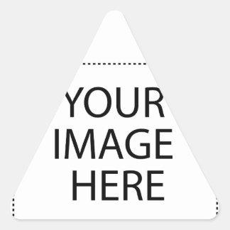 Entièrement personnalisable VOTRE IMAGE ICI Sticker Triangulaire