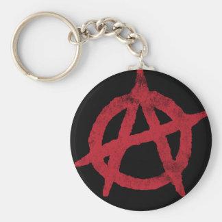 """""""entourez"""" un symbole d'anarchie porte-clé rond"""
