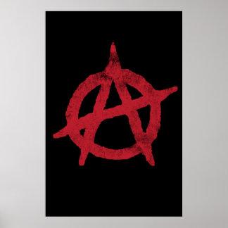"""""""entourez"""" un symbole d'anarchie poster"""