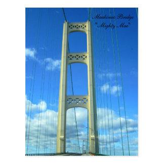 Entraînement à travers le pont de Mackinac Carte Postale