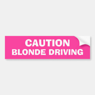 Entraînement blond autocollant pour voiture