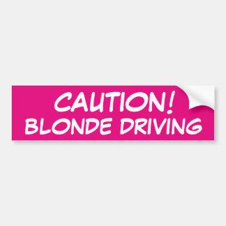 Entraînement de blonde de PRÉCAUTION Autocollant Pour Voiture