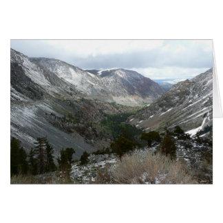 Entraînement par la sierra montagnes de Milou de Carte De Vœux