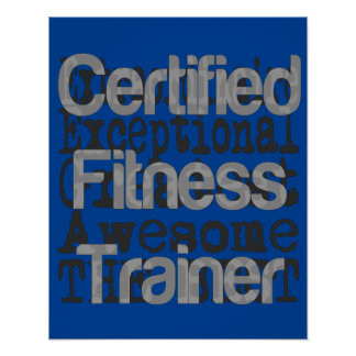 Entraîneur certifié de forme physique poster