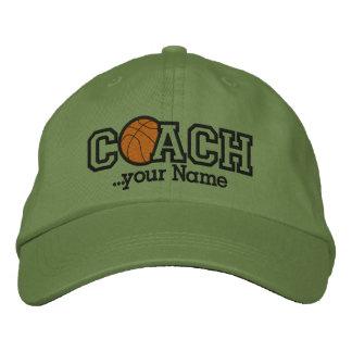 Entraîneur de football personnalisé avec votre nom casquette brodée
