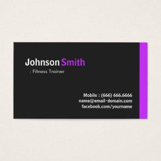 Entraîneur de forme physique - pourpre minimal cartes de visite