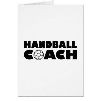 Entraîneur de handball cartes de vœux