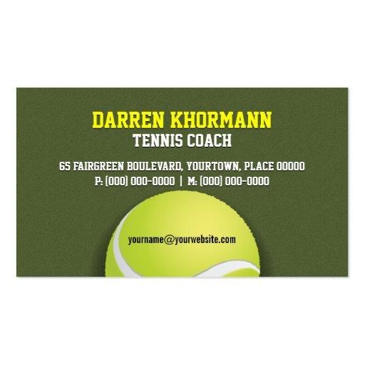 Entraîneur de tennis modèle de carte de visite