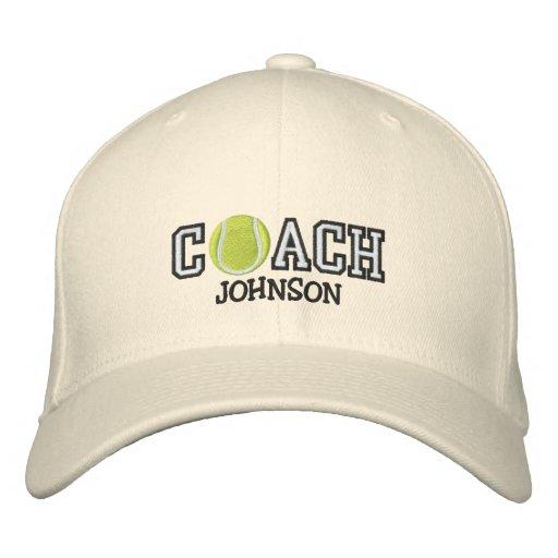 Entraîneur de tennis casquette de baseball