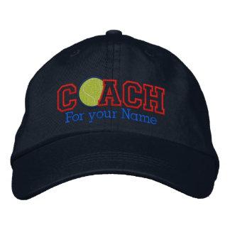 Entraîneur de tennis personnalisé avec votre nom casquette brodée
