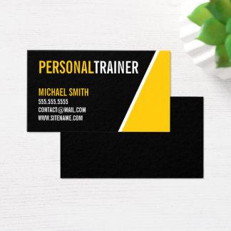 Entraîneur personnel audacieux de couleur noire et cartes de visite