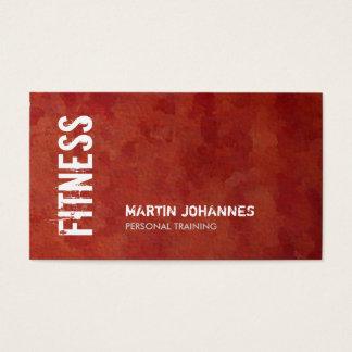 Entraîneur personnel de forme physique rouge-brun cartes de visite