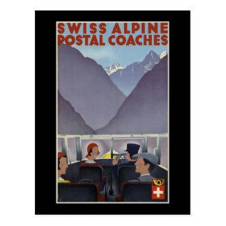 Entraîneurs postaux alpins suisses carte postale