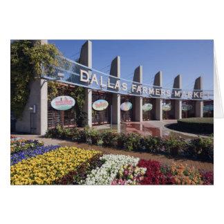 Entrée au marché d'agriculteurs de Dallas Carte De Vœux