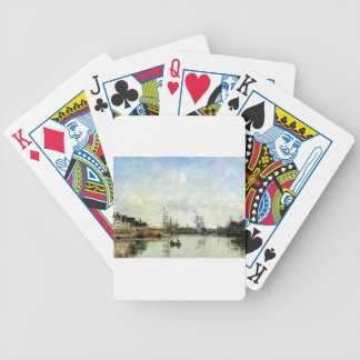 Entrée au port par Eugene Boudin Cartes De Poker