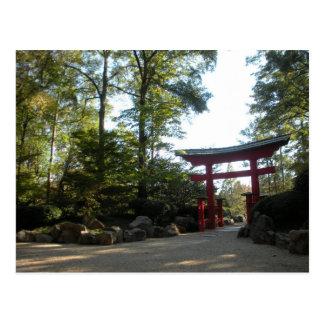 Entrée aux jardins japonais cartes postales