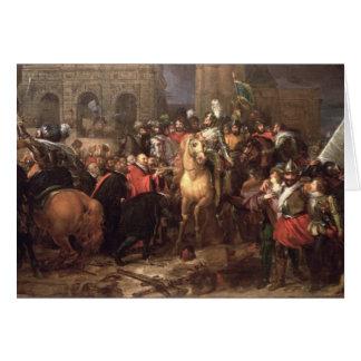 Entrée de Henri IV dans Paris, le 22 mars 1594 Carte De Vœux