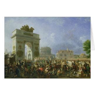 Entrée de la garde impériale dans Paris Carte De Vœux