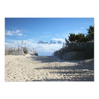 Entrée de plage carton d'invitation  12,7 cm x 17,78 cm