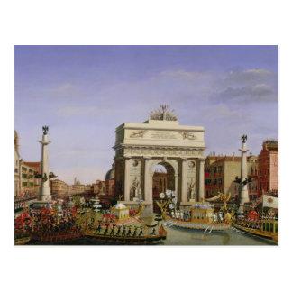 Entrée du napoléon I dans Venise, 1807 Carte Postale