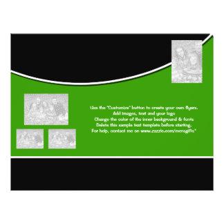 Entreprise verte blanche de noir de modèle d'insec prospectus 21,6 cm x 24,94 cm