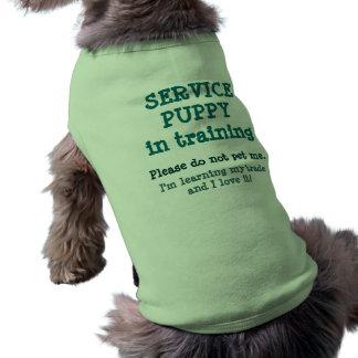 Entretenez la formation de chiot/l'aimer ! t-shirt pour chien