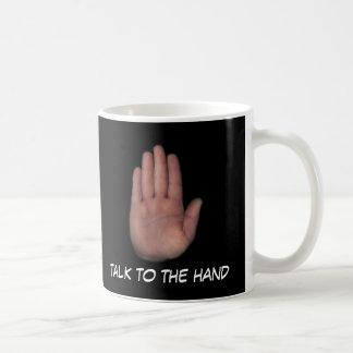 entretien à la main mug blanc