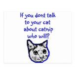Entretien à votre chat au sujet de cataire carte postale