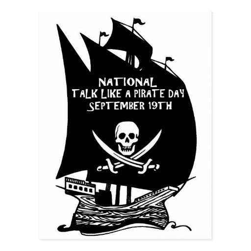 Entretien comme un bateau de jour de pirate cartes postales
