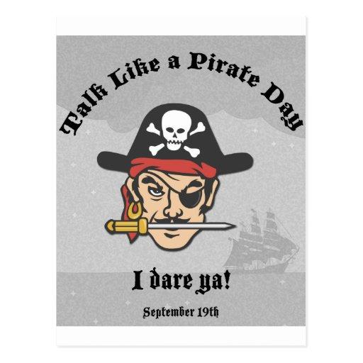 Entretien comme un jour de pirate ! carte postale