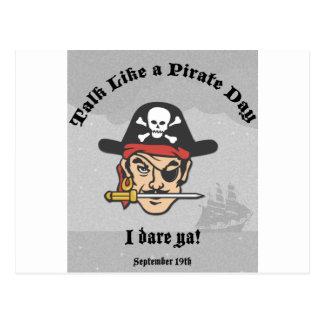 Entretien comme un jour de pirate ! cartes postales