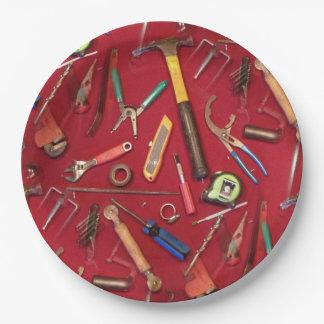 Entretien de bricoleur et outils de bricolage assiettes en papier
