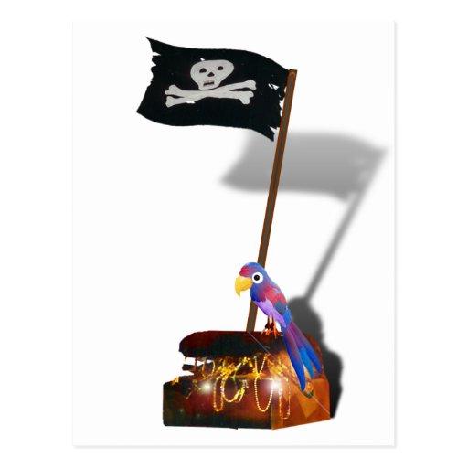 """""""Entretien jour heureux comme pirate"""" Cartes Postales"""