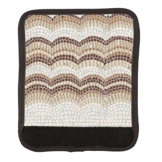 Enveloppe beige de poignée de bagage de mosaïque protège poignée pour bagage