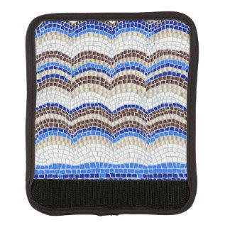 Enveloppe bleue de poignée de bagage de mosaïque protège poignée pour bagage