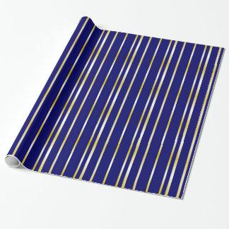 Enveloppe de cadeau de motif de rayures de marine papier cadeau