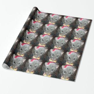 Enveloppe de cadeau de Noël de rat d'abruti de Papier Cadeau