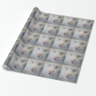 Enveloppe de cadeau douce et blanche de chat papier cadeau